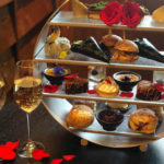 Valentine's day afternoon tea with champagne in Marylebone bar